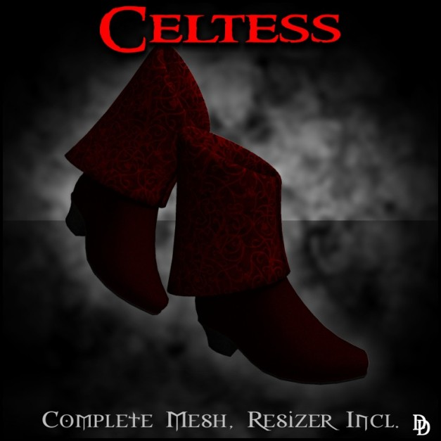 DD Celtess boots in red