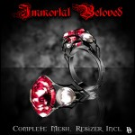 Limited Edition Immortal Beloved ring - ruby
