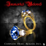 Limited Edition Immortal Beloved ring - sapphire
